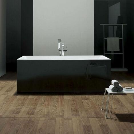 Baignoire ilot Rectangulaire - Acrylique Noir - 170x80 cm - London