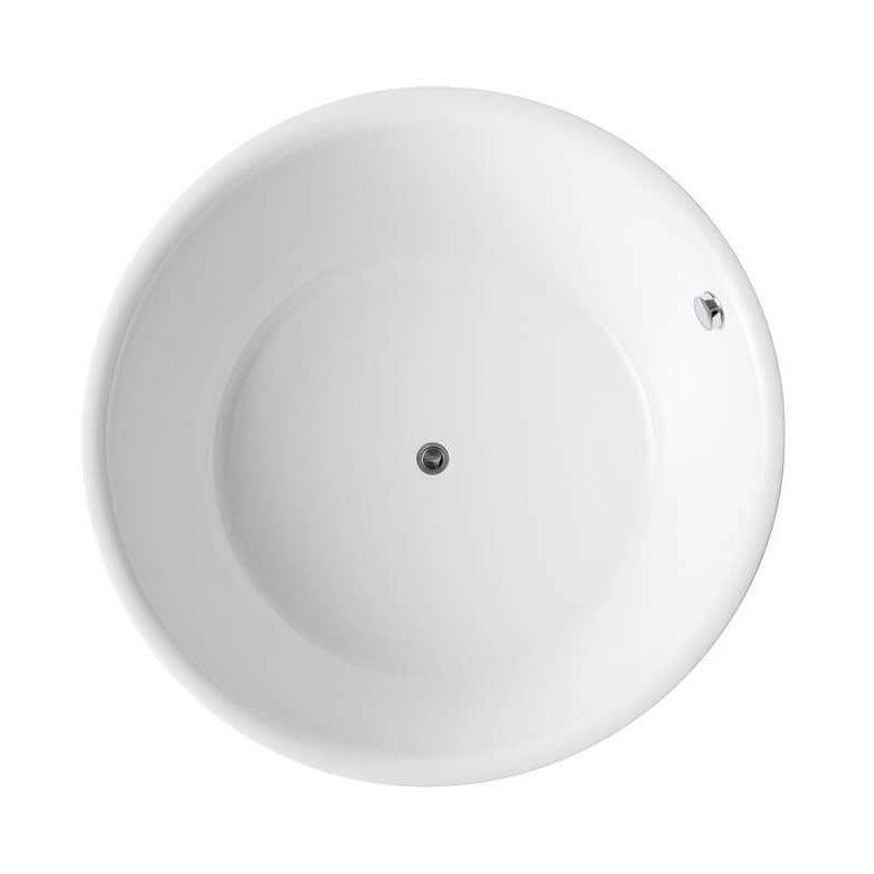 Baignoire Ilot Ronde Acrylique Blanc 150 Cm Fidji 1115617