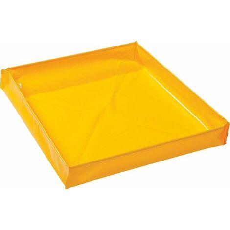 Baignoire jaune capacite de 81 litres LxlxH 760x760x140 mm