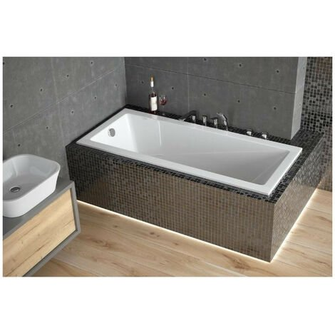Baignoire MODERN ultra-slim 140/150/160/170/180 cm - Dimensions: 160cm