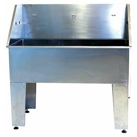 Baignoire professionnelle Ibañez Basic en acier inoxydable, pour le toilettage des chiens, simple et multifonctionnelle