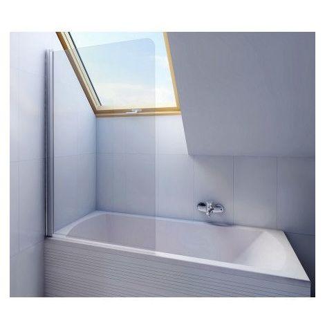 Baignoire rectangulaire avec Pare baignoire NERO 160/170 x 70 cm - Dimensions: 170cm