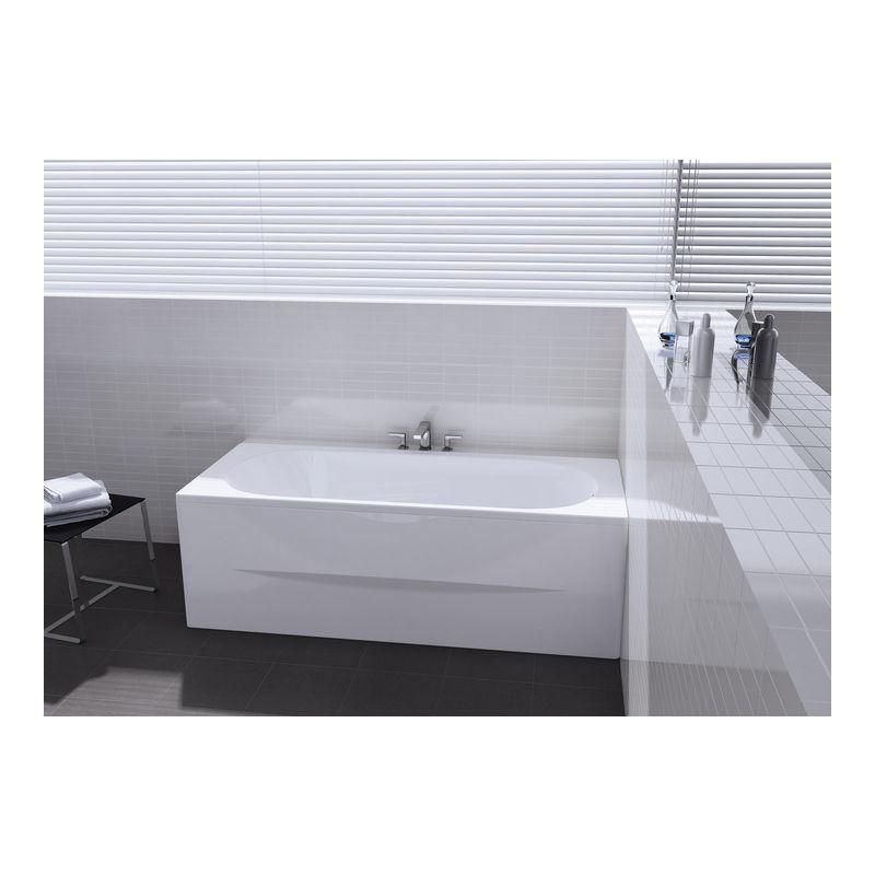 Baignoire rectangulaire avec pieds Neo-Genova 170x75 blanc ...