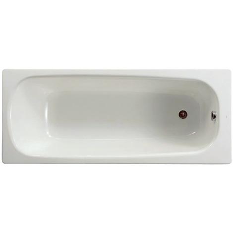 Baignoire rectangulaire avec pieds percée 1 trou Contesa 150x70 blanc