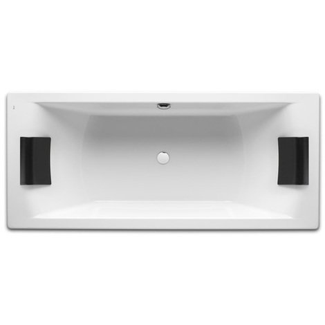 Baignoire rectangulaire biplace HALL Roca 1800x800mm BLANC