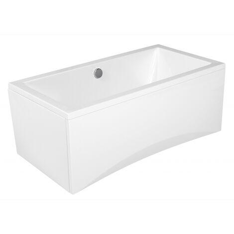Baignoire rectangulaire design à encastrer en acrylique 150x75 + tablier central