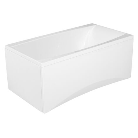 Baignoire rectangulaire encastrable en acrylique 140x75 + tablier central