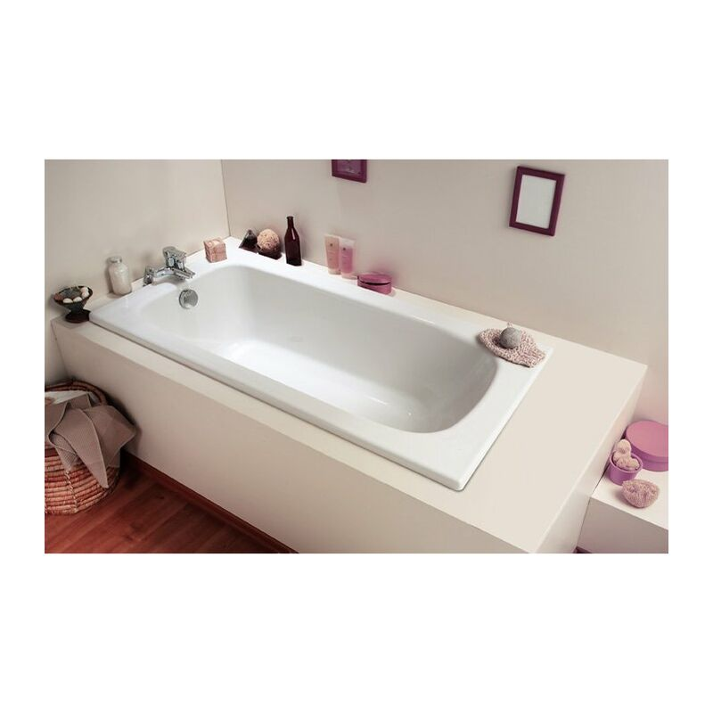 Allibert Baignoire Rectangulaire Gain De Place 120x70 Cm Blanc