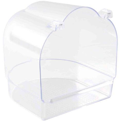 Baignoire semi-circulaire compatible avec oiseaux - 14x15x15cm