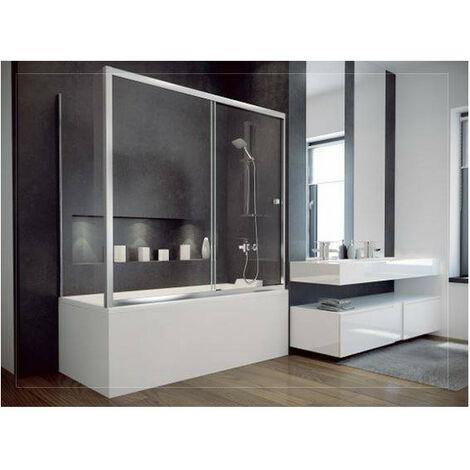 Baignoire SLIDE 150x70 cm + pare baignoire réversible - Noir