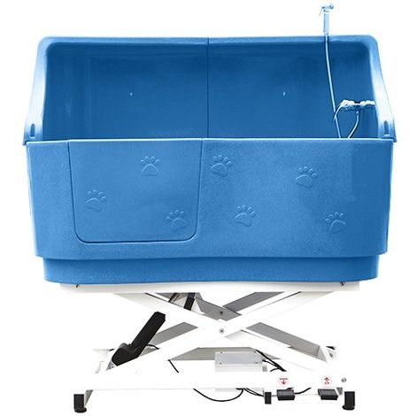Baignoire sur châssis en polyéthylène avec paroi Couleur : Bleu