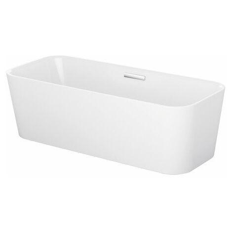 Baignoire sur pieds type lit, 180x75cm, 2 pentes arrière, 3480 CFXXK, Coloris: Blanc - 3480-000CFXXK