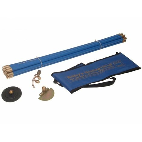 Bailey 5431 Universal Drain Rod Set 3 in Carry Bag