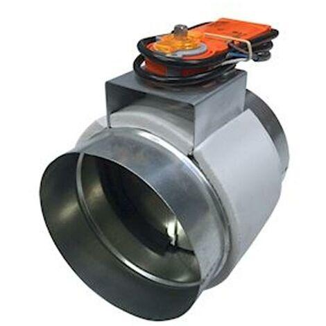 "main image of ""baillindu regimoto200 | baillindustrie regimoto200 - registre motorise en acier galvanise d= 200 mm avec servomot"""