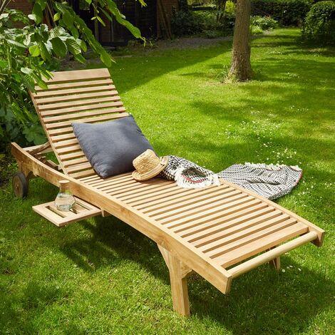 Bain de soleil en bois de teck