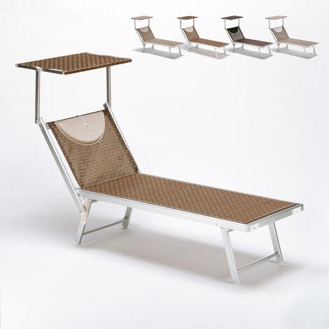 Bain de soleil transat piscine lit de plage aluminium Santorini Limited Edition