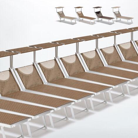 Bain de soleil transats piscine aluminium lits de plage Santorini Limited Edition 20 pcs
