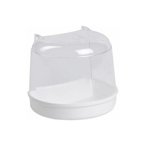 Bain pour cage ronde,blanc