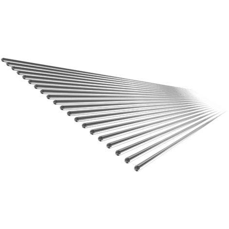 Baja temperatura de soldadura de aluminio puro alambre tubular de soldadura Vara No hay necesidad de soldadura en polvo, 500 * 2 mm, 20PCS
