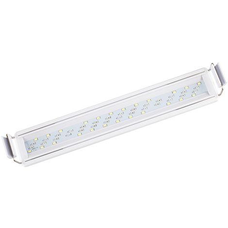 Bajo el agua del acuario del LED luces de la iluminacion acuaticas Full Spectrum cuatro filas regulable tanque de agua de la lampara, 50cm 15W