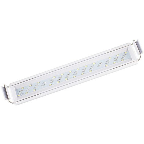 Bajo el agua del acuario del LED luces de la iluminacion acuaticas Full Spectrum cuatro filas regulable tanque de agua de la lampara, 8W 30cm