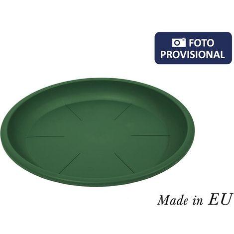 Bajo Plato Para Maceta 18/20cm Squares Verde