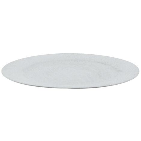 Bajo plato veta madera plata 33 cm