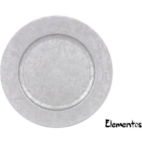 Bajoplato Pvc Deco. Classic Silver 33cm