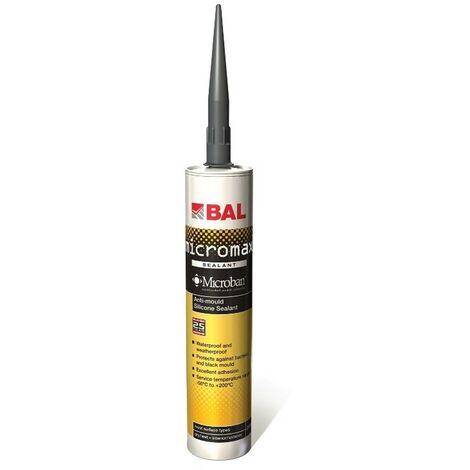 BAL Micromax Anti-Mould Silicone Sealant - Ebony 310ML