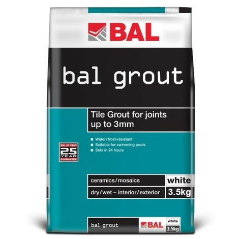 BAL Narrow Joint Wall Grout - White 3.5KG