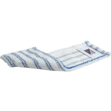 Balai à franges avec pochettes microfibre, blanc/bleu l.500mm
