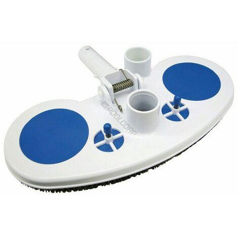 Balai aspirateur manuel, pour piscine, forme demi lune.