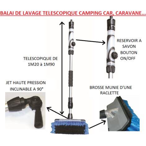 Balai brosse de lavage téléscopique luxe voiture , camping car