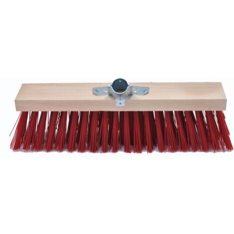 Balai cantonnier synthétique rouge 40cm douille métal diamètre 28