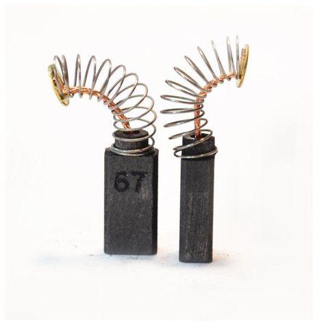 Balais de Charbon pour Bosch CSB 520-2E 6,4x6,4x15,5mm