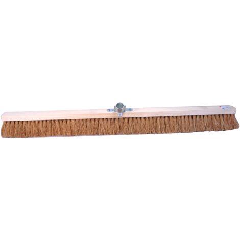 Balai coco 1 mètre, bois avec douille métal