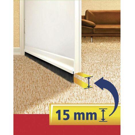 Balai d'isolation pour bas de porte spécial sol légérement irrégulier (Coloris : brun)