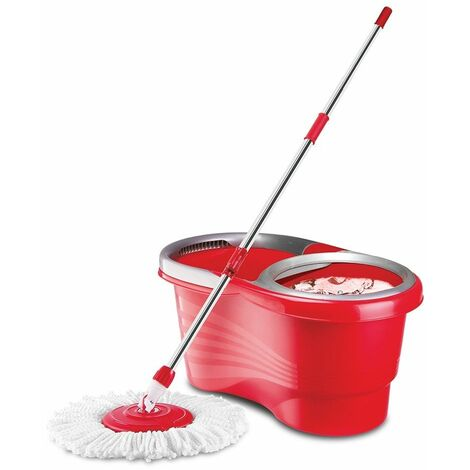 Balai EASY CLEAN MOP à essorage rotatif - Rouge - Rouge