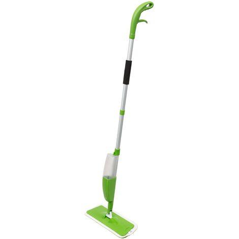 Balai mop avec réservoir intégré et gâchette - 330 ml - Vert - Vert