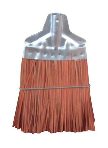 Balai en fibres de piassava - monture en tôle - Brosserie Cardot