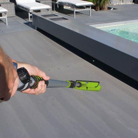 Balai piscine Hydrojet XPRO pour volet et couverture 300cm - Vert Fluo - Extérieur - Extensible