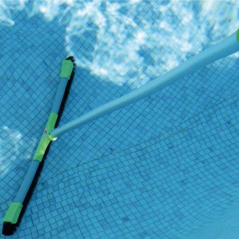 Balai piscine Multi Surface XPRO 70cm avec manche téléscopique 480cm KERLIS - Vert Fluo - Extérieur - Extensible - Vert Fluo