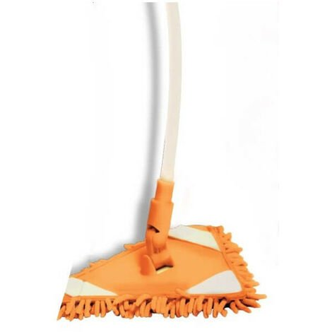 Balai Swing Mop Microfibre - Le balai passe partout, manche télescopique flexible et articulé, tête articulée à 360°