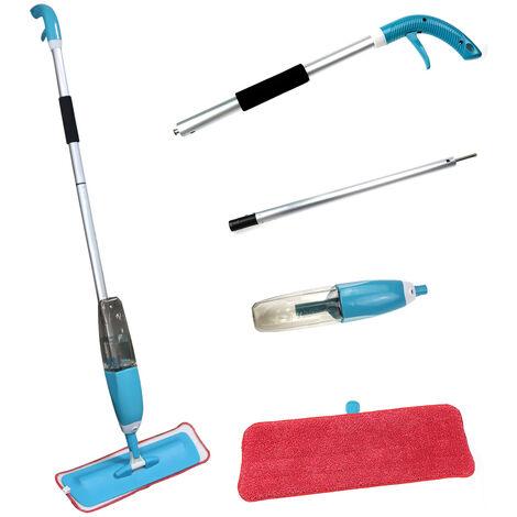 Balai Vapeur Avec Pulvérisation Multi-Fonction Mop Spray Pliable Plastique Bleu - bleu