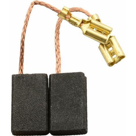 Balais de Charbon pour AEG Meuleuse 391221 - 5x10x16mm
