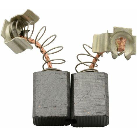 Balais de Charbon pour Black & Decker Marteau KD650 - 6x9x11,3mm