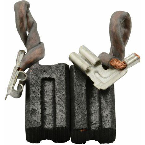 Balais de Charbon pour DeWalt DW258A - 6,3x8x13mm