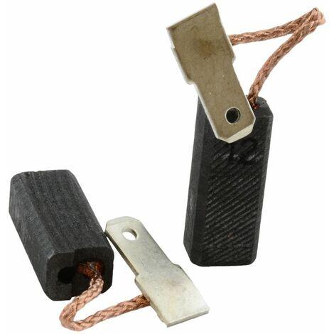 Balais de Charbon pour Flex Bétonnière RZ600UE - 6,3x8x19,5mm
