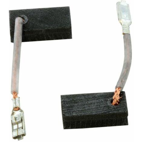 Balais de Charbon pour Hilti Mini Meuleuse Angulaire DCG 500-S - 5x10x17mm
