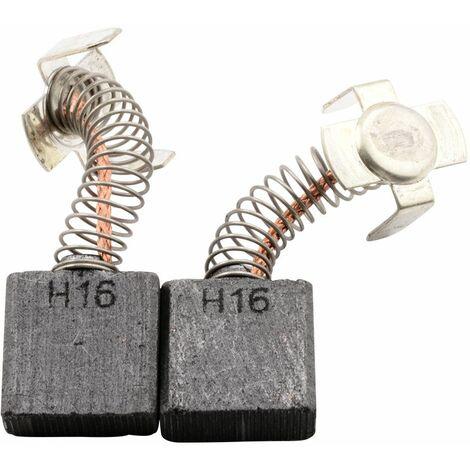 Balais de Charbon pour Hitachi Coupeuse/Scie G 23SC2 - 7x17x17mm